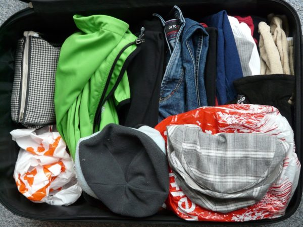 What to carry on the hand luggage.  Change clothes
